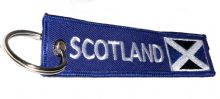 Embroidered 'Scotland' Keyrings With Scottish Flag